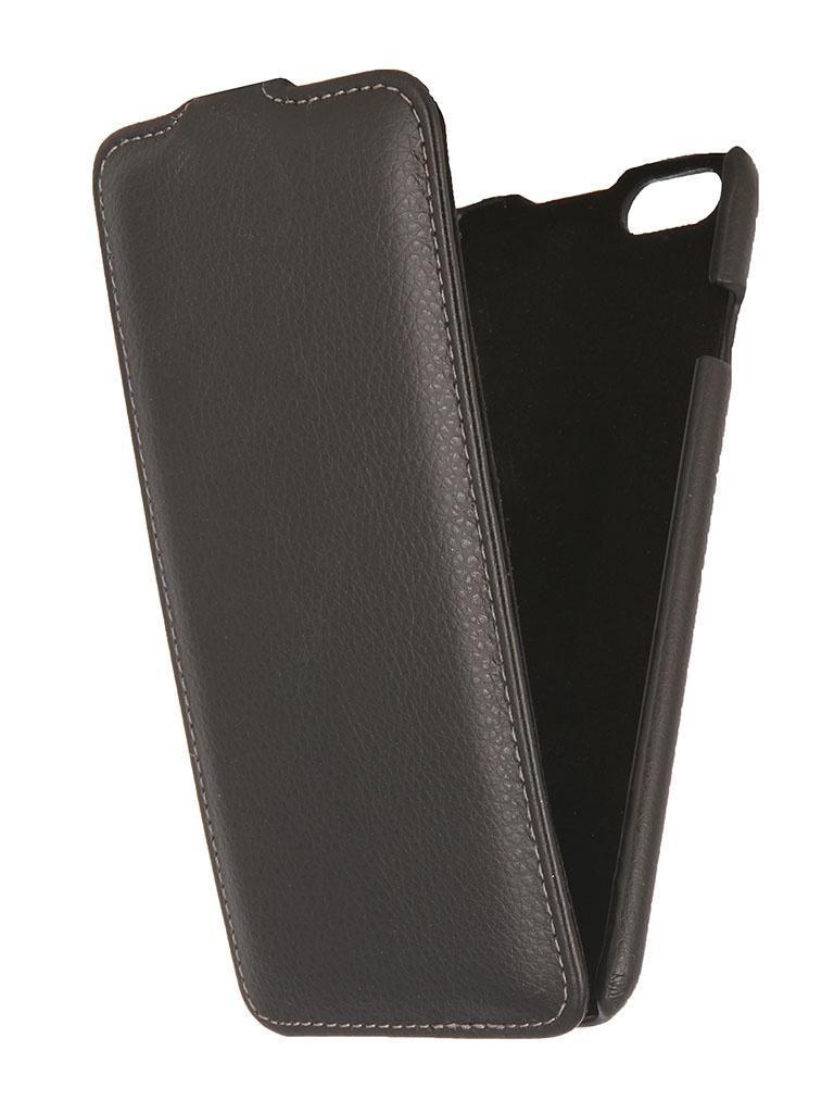 купить Аксессуар Чехол Ainy for iPhone 6 Plus кожаный, вертикальный Black