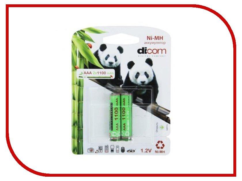 Аккумулятор AAA - Dicom Panda 1100 mAh Ni-MH AAA1100mAh (2 штуки)
