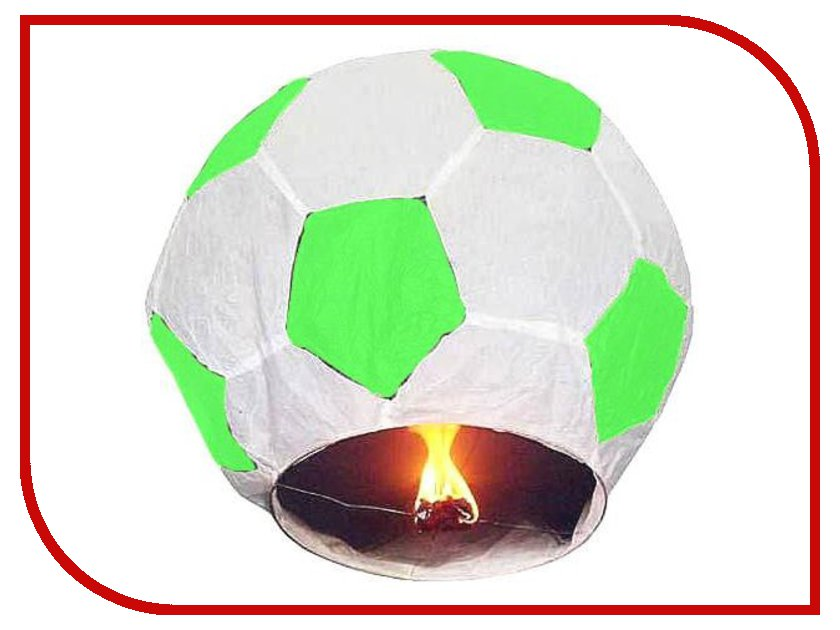 Небесный фонарик Эврика Фонарь желаний Футбольный мяч Green-White 93489<br>
