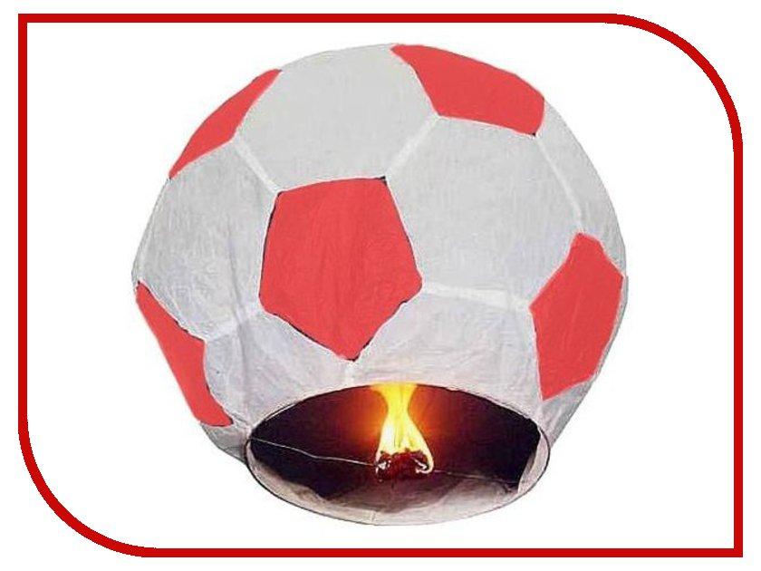Небесный фонарик Эврика Фонарь желаний Футбольный мяч Red-White 93488