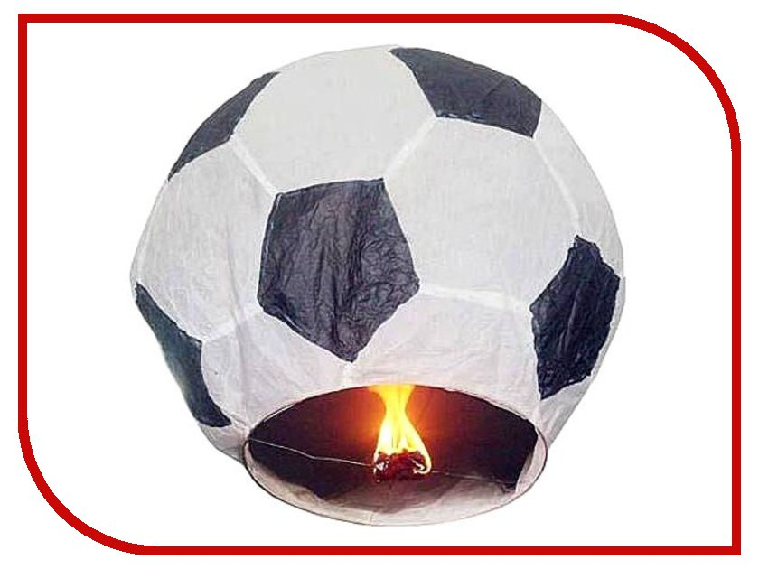Небесный фонарик Эврика Фонарь желаний Футбольный мяч Black-White 93225
