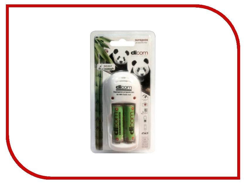Зарядное устройство Dicom Panda DC207 + 2 ак. 2700 mAh