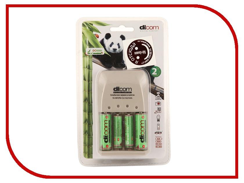 Зарядное устройство Dicom Panda DC6091 + 2 ак. 2900 mAh + 2 ак. 1100 mAh