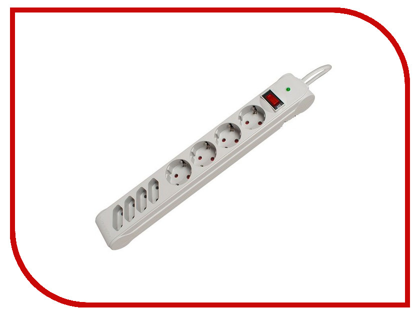 Сетевой фильтр Defender DFS 301 8 Sockets 1.8m 99454
