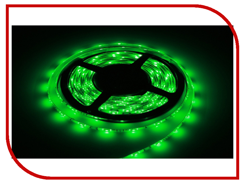 Светодиодная лента LUNA LSW 3528 120led/m 12V 48W 5m IP65 G Green 60059<br>
