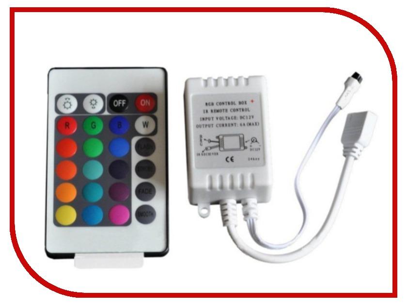 Контроллер LUNA CON RGB IR 24B 70050 led rgb bulb lamp e27 e14 ac85 265v 10w 5w led rgb spot blubs light magic holiday rgb lighting ir remote control 16 colors