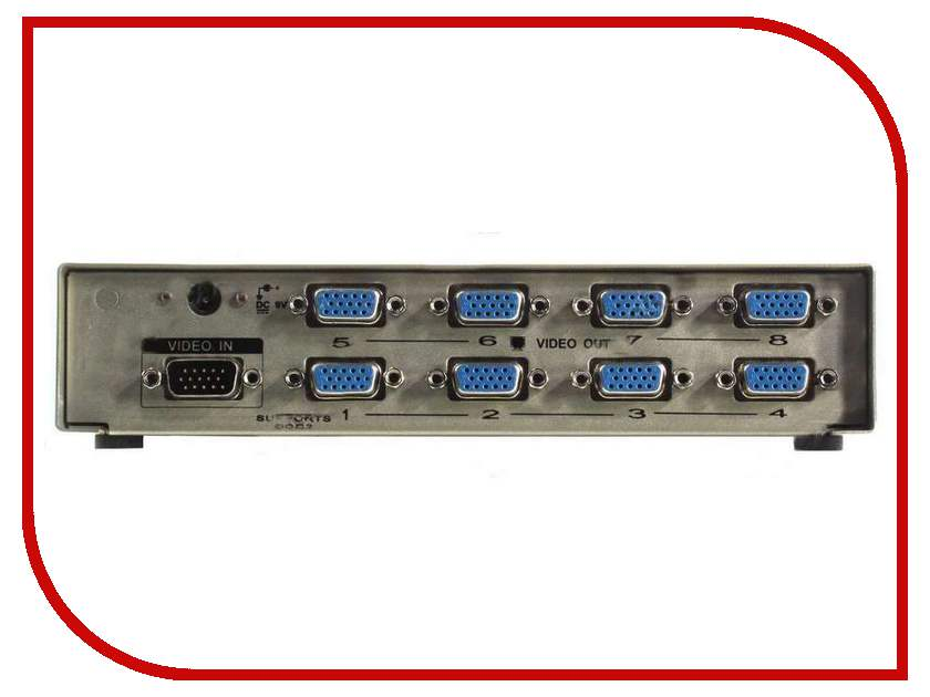 Аксессуар VCOM VGA-Splitter VGA15M-8xVGA15F VDS8017<br>
