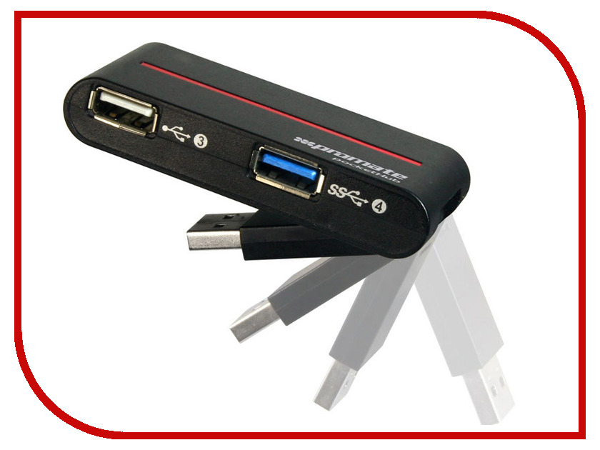 Хаб USB Promate pocketHub