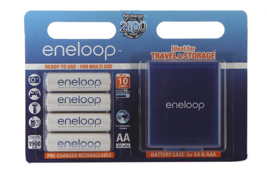 Аккумулятор AA - Panasonic Eneloop 1900 mAh Ni-MH (4 штуки) BK-3MCCEC4BE с кейсом