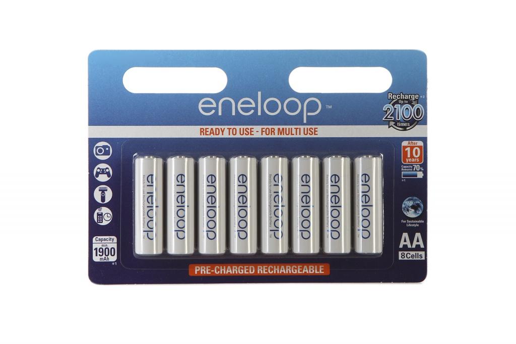 Аккумулятор AA - Panasonic Eneloop 1900 mAh Ni-MH (8 штук) BK-3MCCE/8BE цена и фото