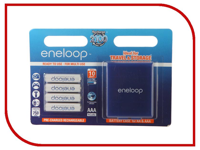 Аккумулятор AAA - Panasonic Eneloop 750 mAh Ni-MH (4 штуки) BK-4MCCEC4BE с кейсом