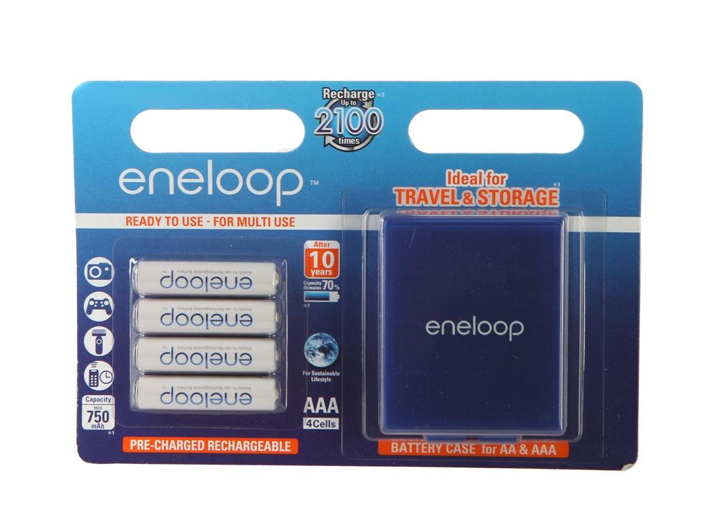 Аккумулятор AAA - Panasonic Eneloop 750 mAh Ni-MH (4 штуки) BK-4MCCEC4BE с кейсом цена и фото
