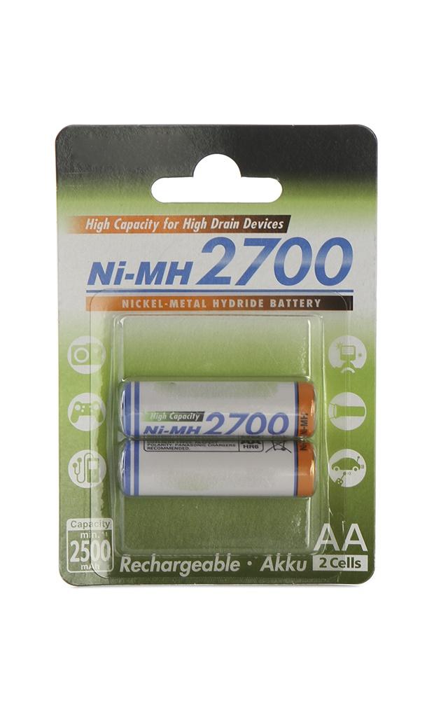 лучшая цена Аккумулятор AA - Panasonic 2700 mAh Ni-MH (2 штуки) 2BPBK-3HGAE/2BE