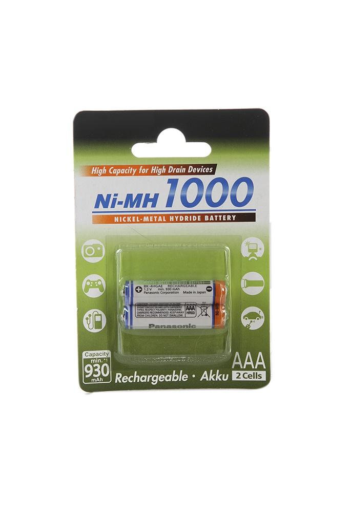 Аккумулятор AAA - Panasonic 1000 mAh Ni-MH (2 штуки) 2BPBK-4HGAE/2BE