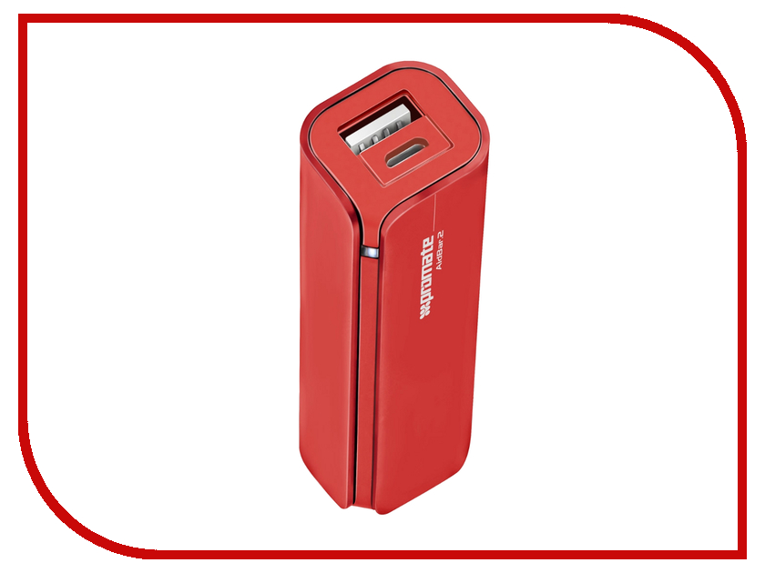 все цены на Аккумулятор Promate aidBar-2 2500mAh Red онлайн
