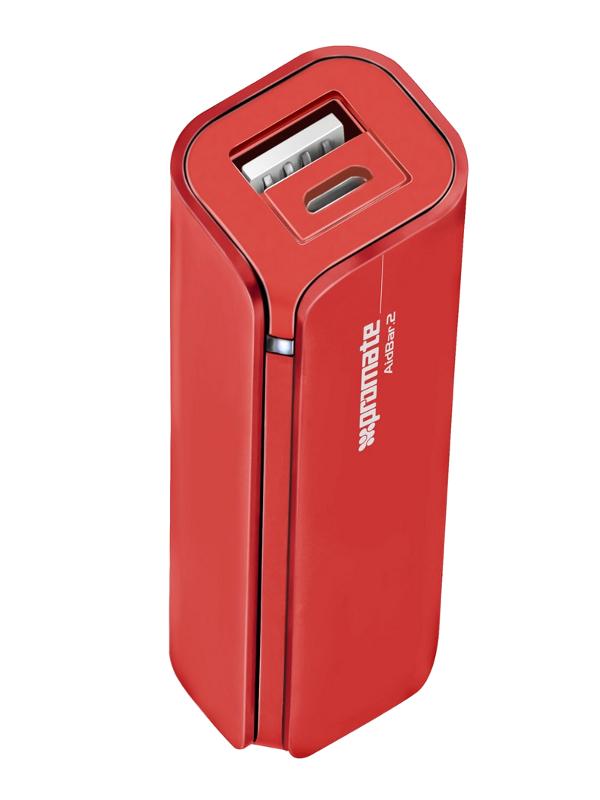 Аккумулятор Promate aidBar-2 2500 mAh Red