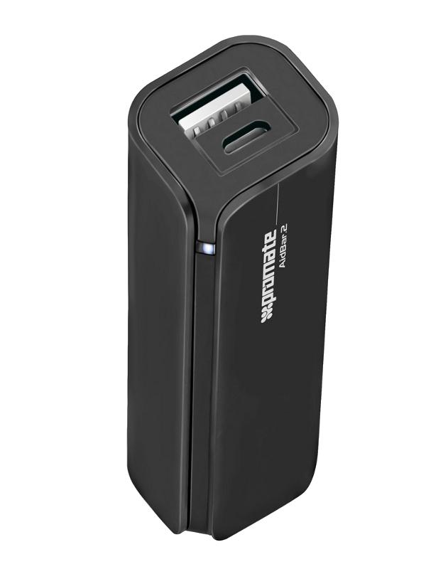 Аккумулятор Promate aidBar-2 2500 mAh Black