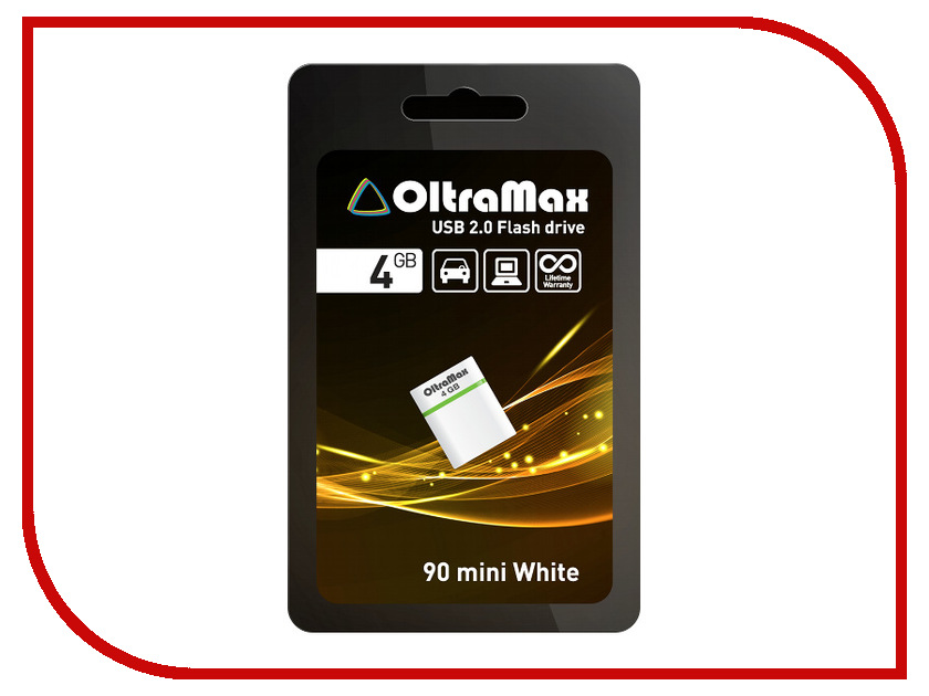USB Flash Drive 4Gb - OltraMax 90 Mini White OM004GB-mini-90-W