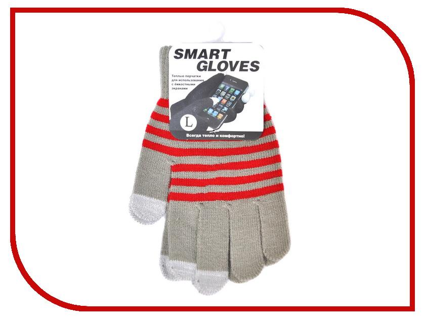 Теплые перчатки для сенсорных дисплеев Beewin BW-06GRY L Grey<br>