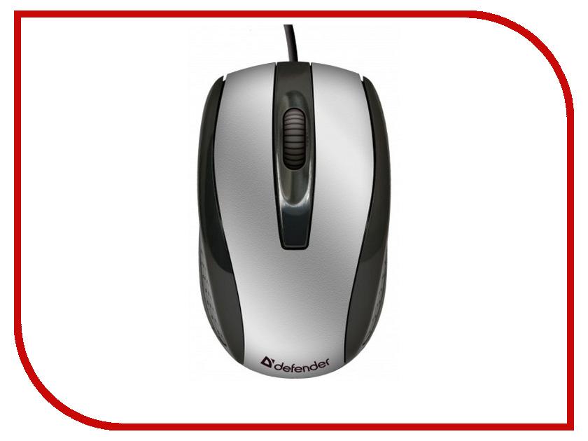 Мышь Defender Optimum MM-140 USB Silver 52140