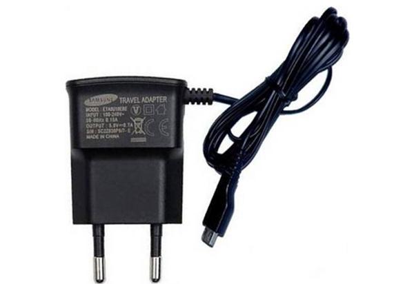 Аксессуар Зарядное устройство сетевое Samsung micro-USB ETA0U10EBECSTD
