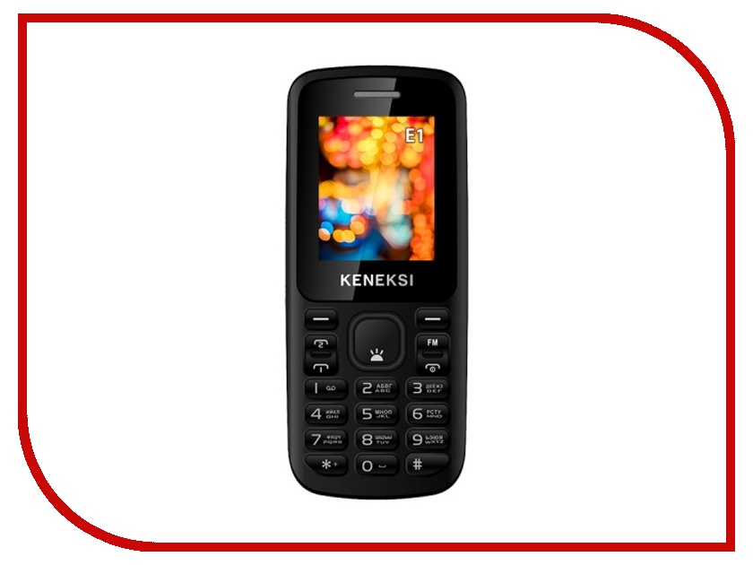 Сотовый телефон KENEKSI E1 Black<br>