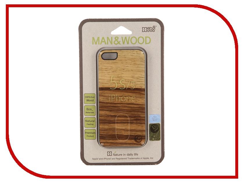 Аксессуар Чехол Man&amp;Wood Terra для iPhone 5 / 5S IS511AB Black<br>