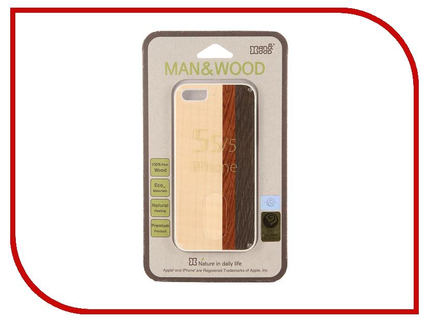 Аксессуар Чехол Man&amp;Wood Tiramisu для iPhone 5 / 5S IS559AW White<br>