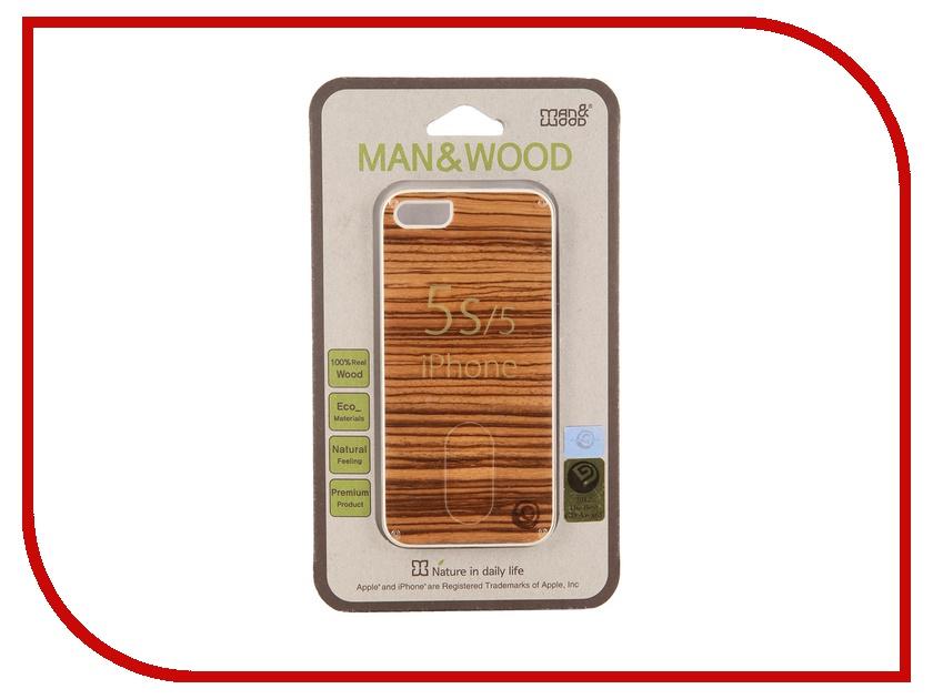Аксессуар Чехол Man&amp;Wood Zebrano для iPhone 5 / 5S IS504AW White<br>