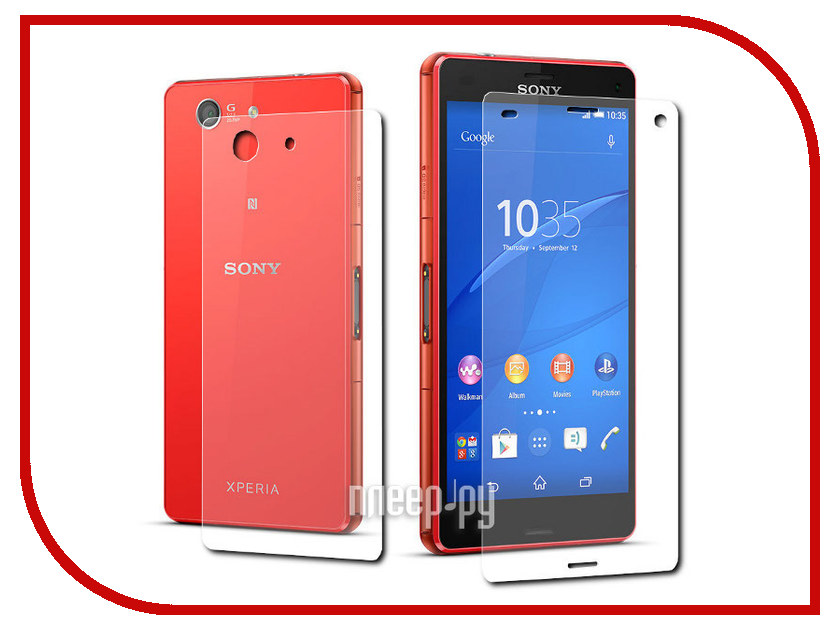 ��������� �������� ������ Sony Xperia Z3 Compact LuxCase Front&Back x2 ������������ 52807 / 81103