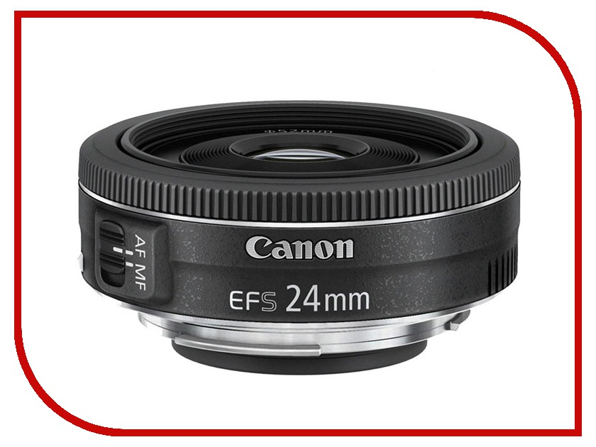 Объектив Canon EF-S 24 mm f/2.8 STM объектив canon ef s 18 55 mm f 3 5 5 6 is stm kit silver