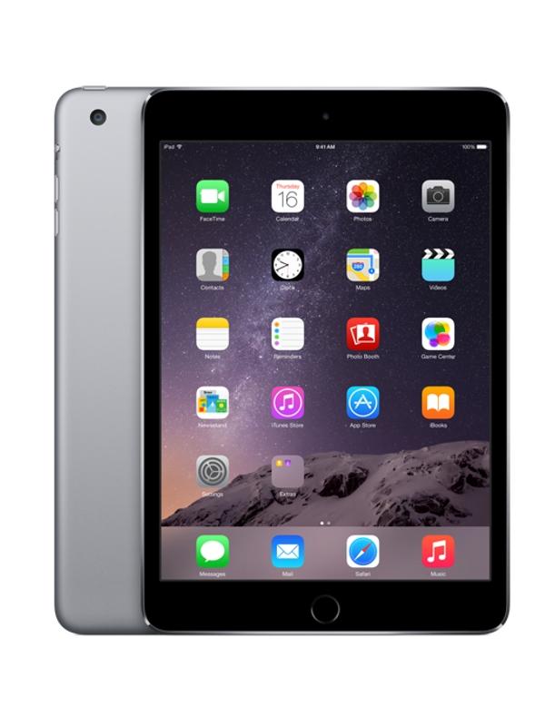 Планшет APPLE iPad mini 3 128Gb Wi-Fi Space Grey MGP32RU/A<br>
