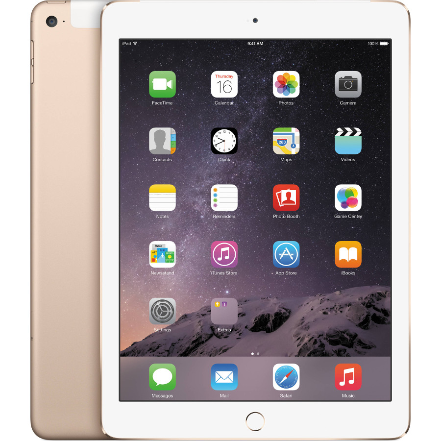 Планшет APPLE iPad Air 2 128Gb Wi-Fi + Cellular Gold MH1G2RU/A<br>