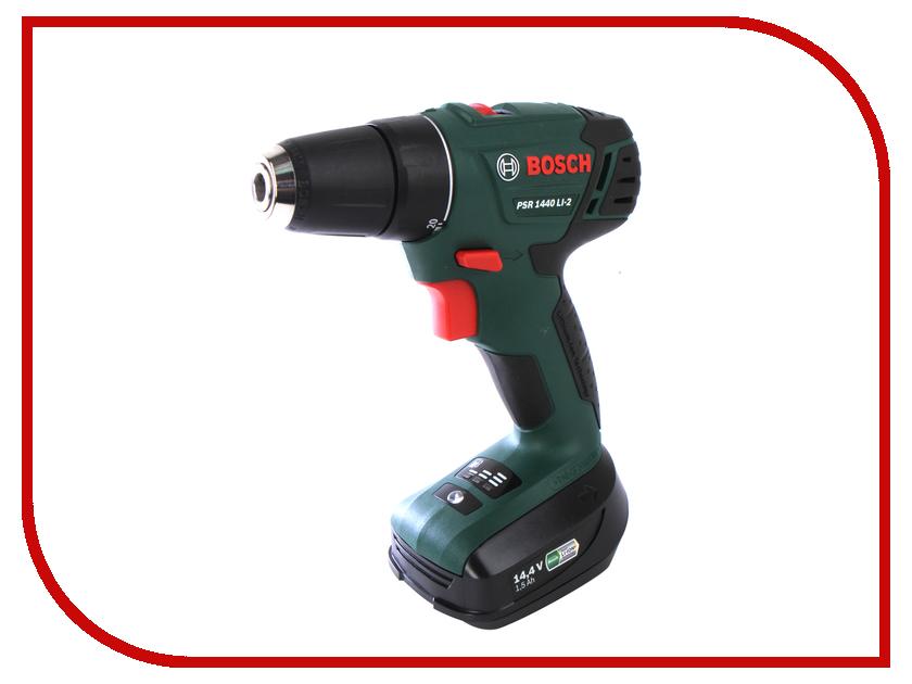 Электроинструмент Bosch PSR 1440 LI-2 1.5Ah x2 Case 06039A3021 аккумуляторный перфоратор bosch gbh 180 li 4 0ач x2 0611911023