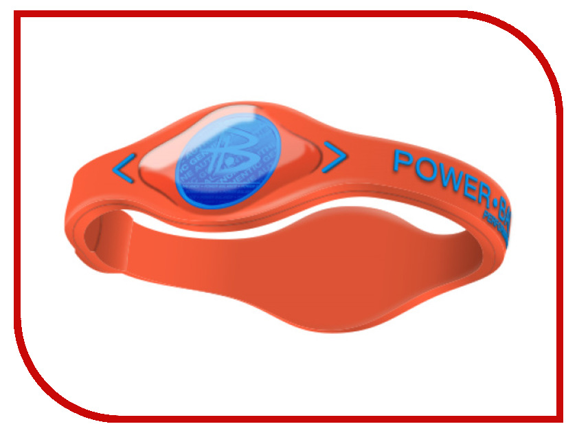 Браслет POWER BALANCE S Electric Orange/Blue<br>