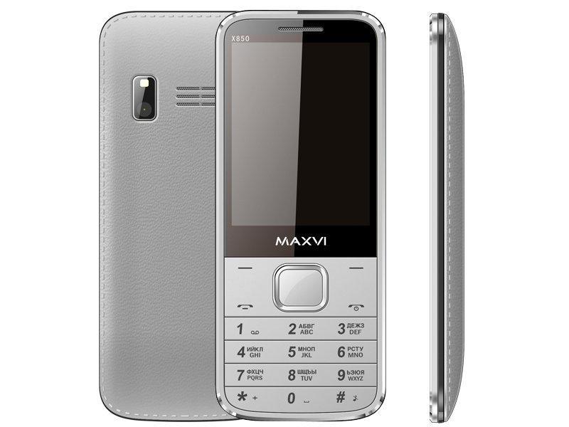 Сотовый телефон Maxvi X850 Silver сотовый телефон maxvi m6 silver black
