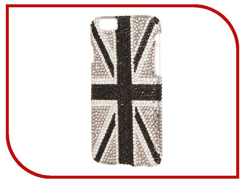Аксессуар Защитная крышка Liberty Project со стразами для iPhone 6 Black Britain R0005523<br>