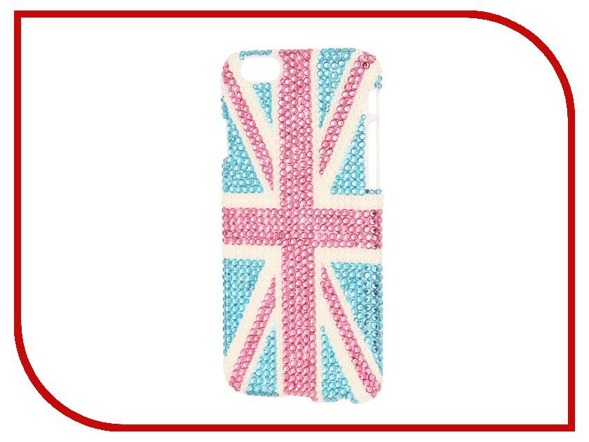Аксессуар Защитная крышка Liberty Project со стразами для iPhone 6 Blue Britain R0005524<br>