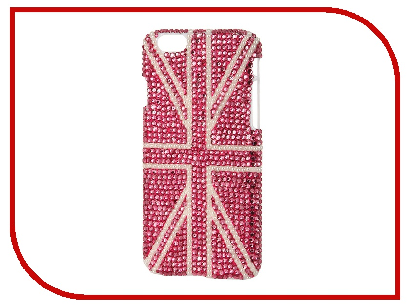 Аксессуар Защитная крышка Liberty Project со стразами для iPhone 6 Pink Britain R0005525