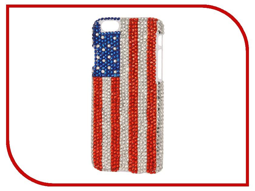 Аксессуар Защитная крышка Liberty Project со стразами для iPhone 6 USA R0005526 liberty project защитная пленка для ipad mini прозрачная