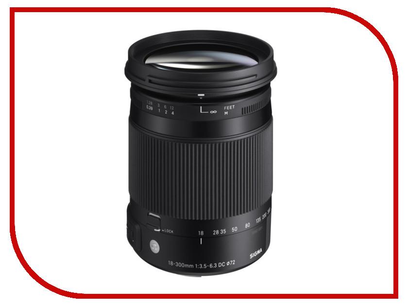 Объектив Sigma Pentax AF 18-300 mm F/3.5-6.3 DC Macro HSM Contemporary купить sigma 18 200 мм для pentax