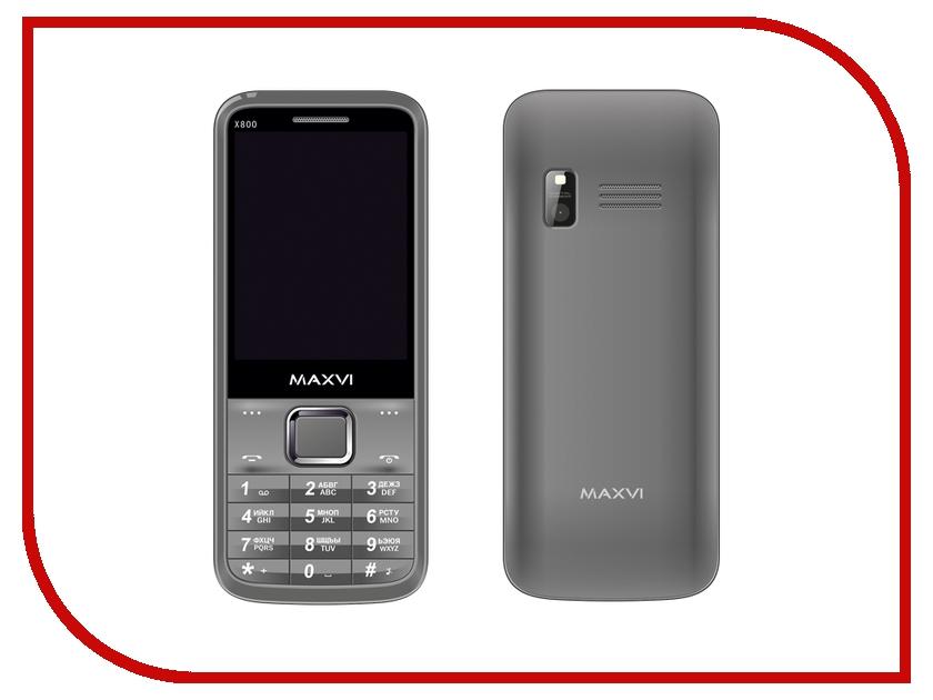 Сотовый телефон Maxvi X800 Gray gsm модуль для кпк eten x800