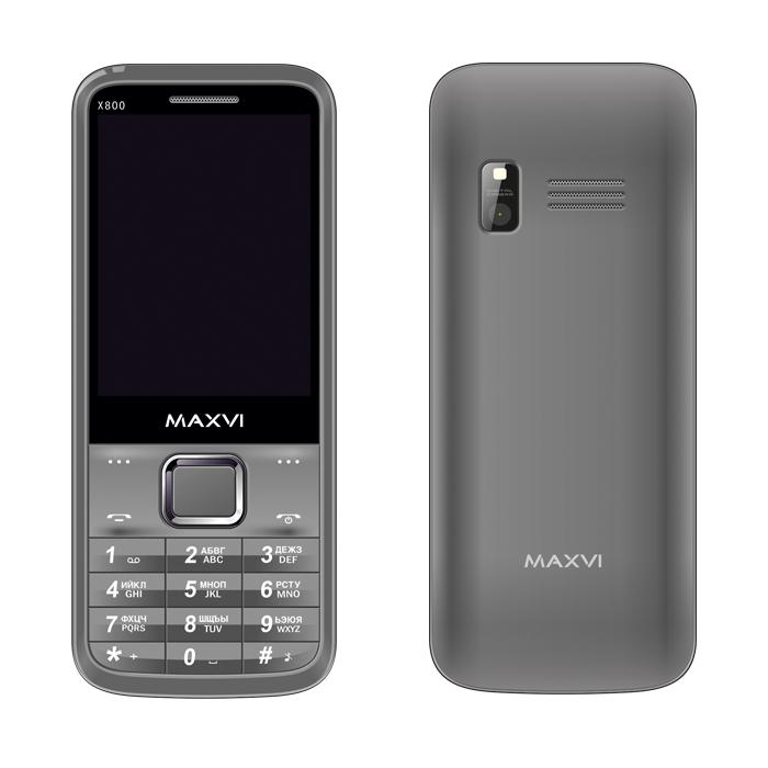 Сотовый телефон Maxvi X800 Gray сотовый телефон huawei nova gray