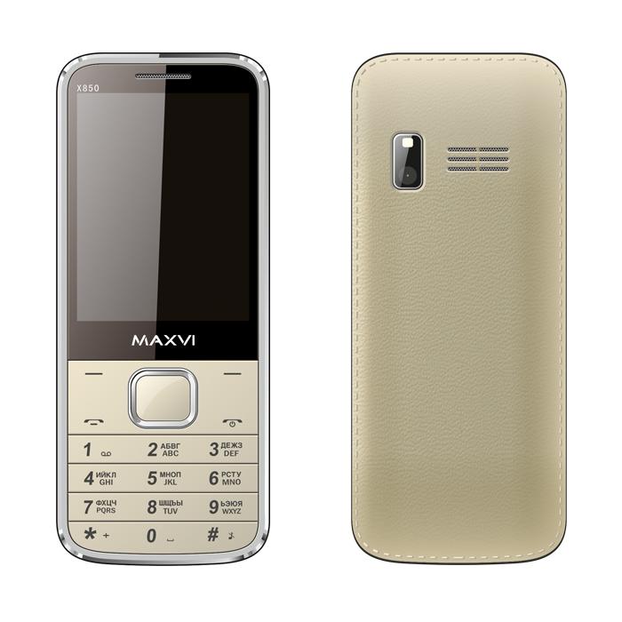 Сотовый телефон Maxvi X850 Gold сотовый телефон maxvi b1 red