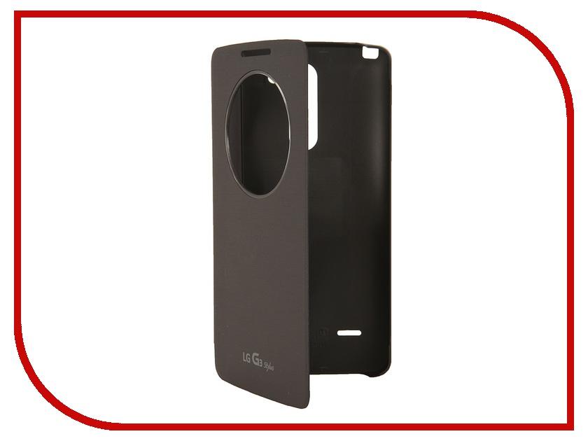 Аксессуар Чехол LG D690 G3 Stylus QuickWindow CCF-440G Black<br>