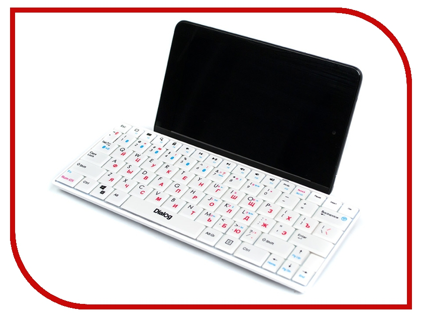 Клавиатура беспроводная Dialog Prestige KP-210BT White