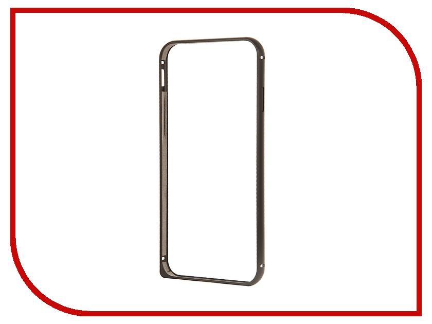 Аксессуар Чехол Deppa Alum Bumper для iPhone 6 Black<br>