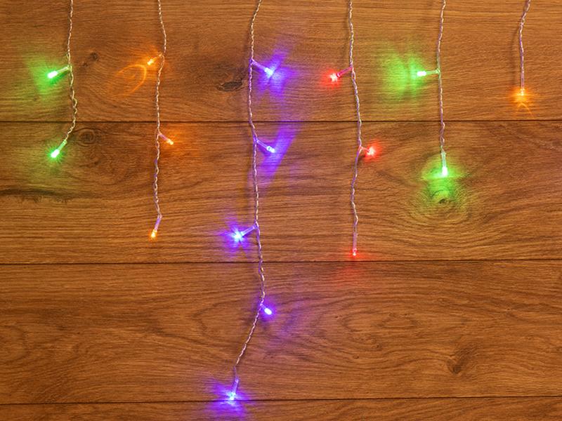 Гирлянда Neon-Night Айсикл 1.8x0.5m Multicolor 255-019