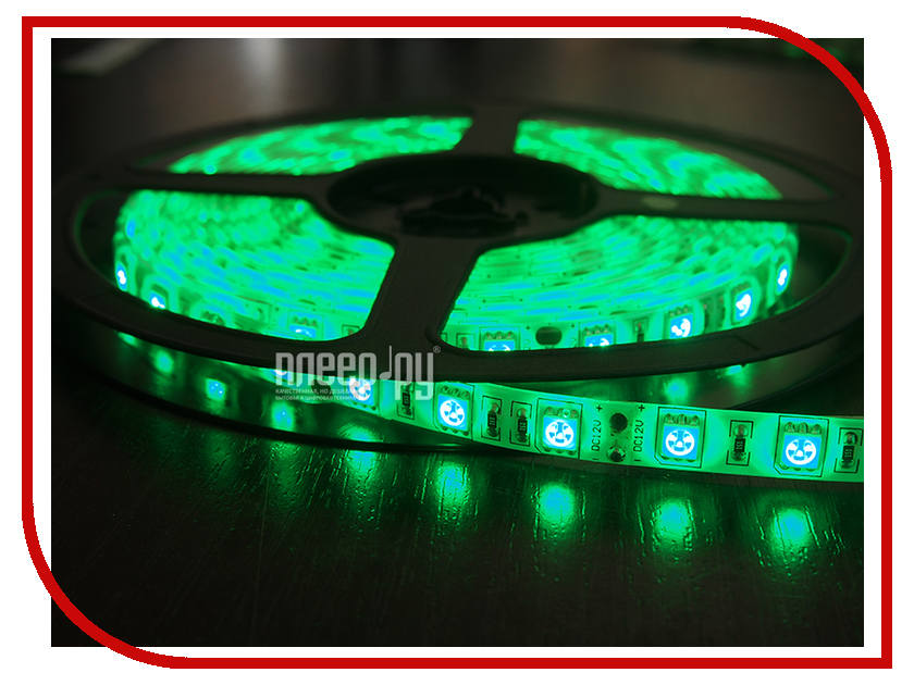 Светодиодная лента Neon-Night SMD 5050 60led/m 12V 72W 5m IP23 Green 141-464-1<br>