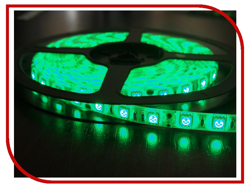 Светодиодная лента Neon-Night SMD 3528 60led/m 12V 24W 5m IP23 Green 141-334-0<br>